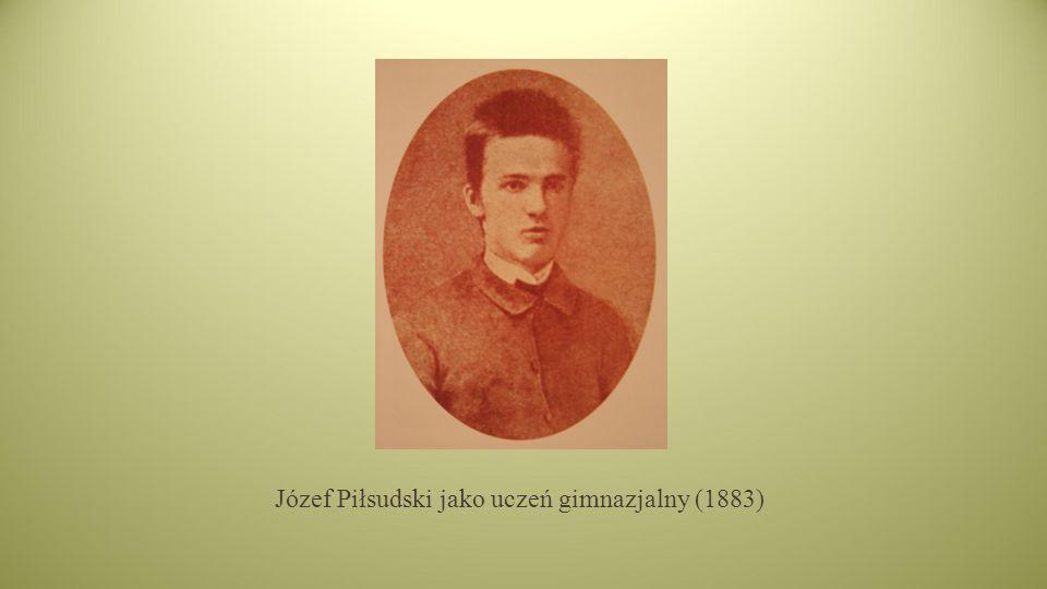 Józef Piłsudski jako uczeń gimnazjalny (1883)