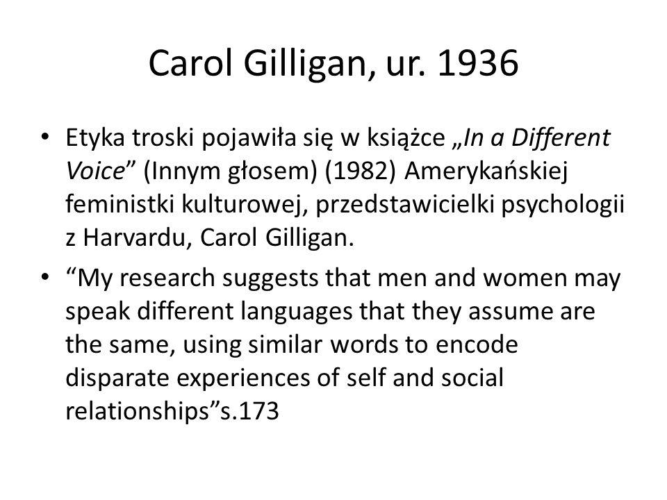 Carol Gilligan, ur.