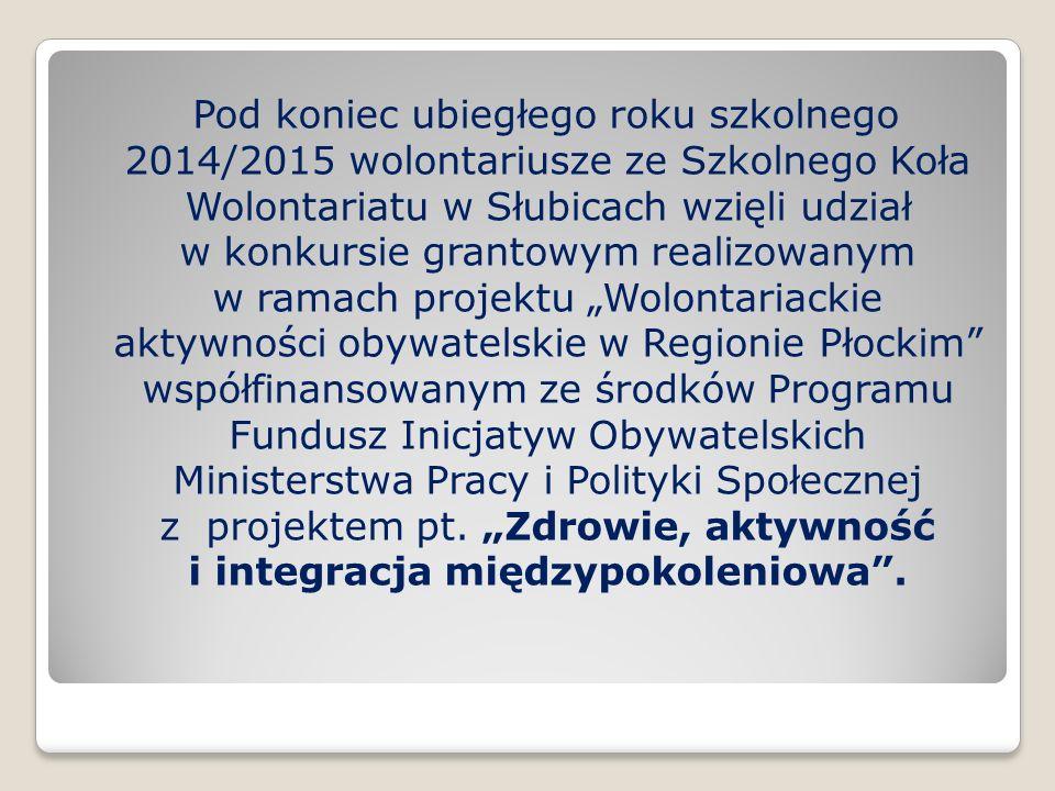 24 listopada 2015r w siedzibie Gminnej Biblioteki Publicznej w Słubicach odbył się festiwal piosenki pn.
