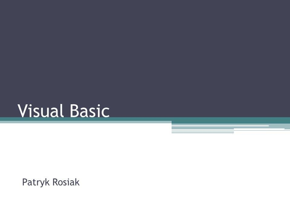 Visual Basic Patryk Rosiak