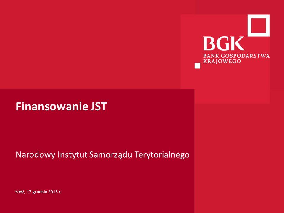 204/204/204 218/32/56 118/126/132 183/32/51 227/30/54 Finansowanie JST Narodowy Instytut Samorządu Terytorialnego Łódź, 17 grudnia 2015 r.