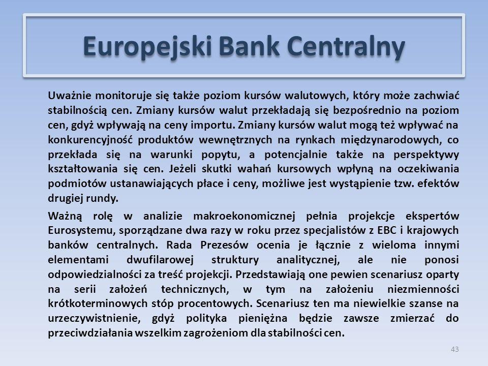 Uważnie monitoruje się także poziom kursów walutowych, który może zachwiać stabilnością cen.