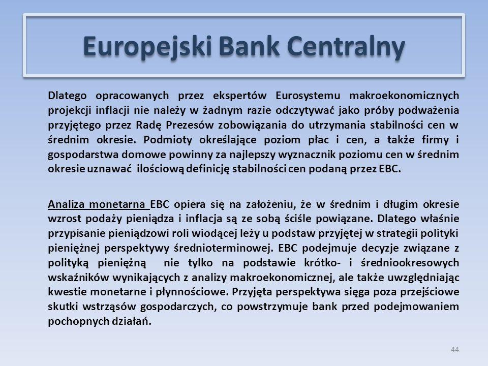 Dlatego opracowanych przez ekspertów Eurosystemu makroekonomicznych projekcji inflacji nie należy w żadnym razie odczytywać jako próby podważenia przyjętego przez Radę Prezesów zobowiązania do utrzymania stabilności cen w średnim okresie.