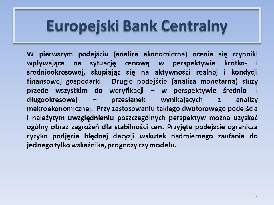 W pierwszym podejściu (analiza ekonomiczna) ocenia się czynniki wpływające na sytuację cenową w perspektywie krótko- i średniookresowej, skupiając się na aktywności realnej i kondycji finansowej gospodarki.