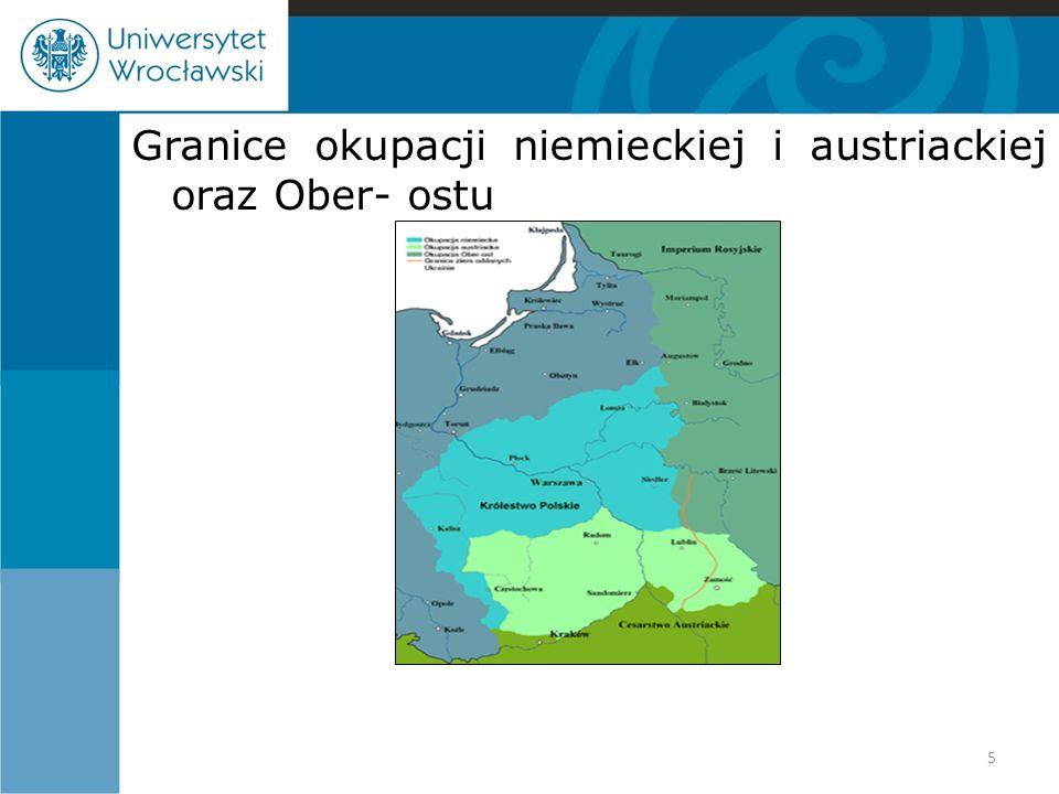 Granice okupacji niemieckiej i austriackiej oraz Ober- ostu 5