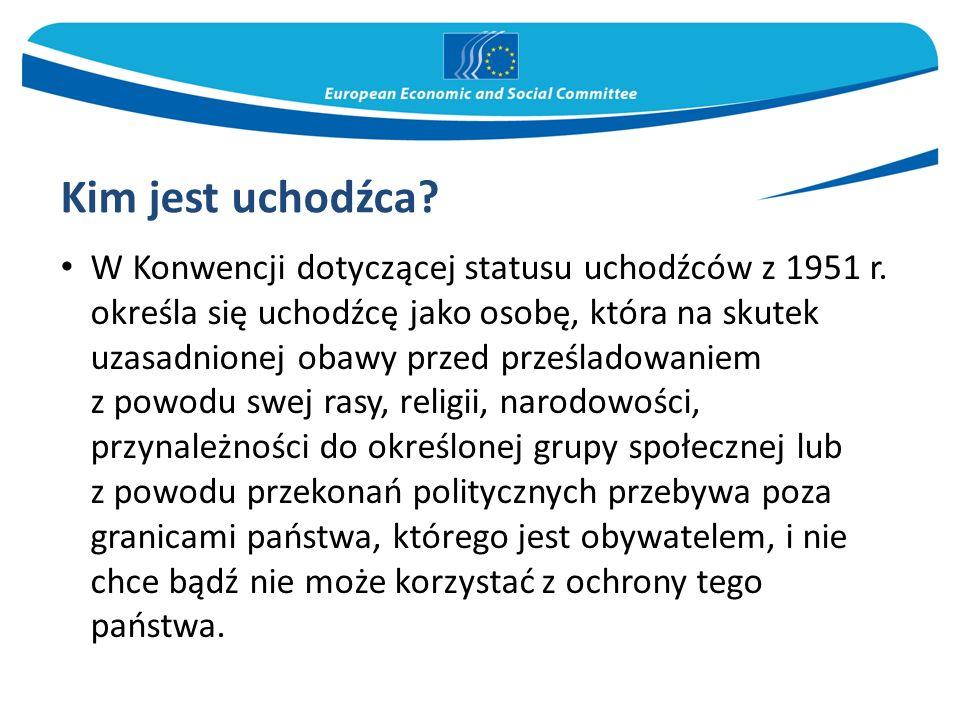 W Konwencji dotyczącej statusu uchodźców z 1951 r. określa się uchodźcę jako osobę, która na skutek uzasadnionej obawy przed prześladowaniem z powodu