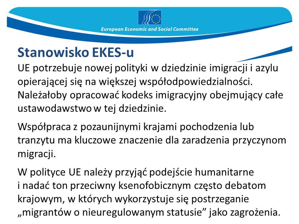 Stanowisko EKES-u UE potrzebuje nowej polityki w dziedzinie imigracji i azylu opierającej się na większej współodpowiedzialności. Należałoby opracować