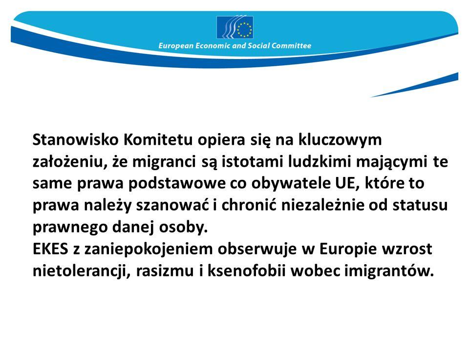 Stanowisko Komitetu opiera się na kluczowym założeniu, że migranci są istotami ludzkimi mającymi te same prawa podstawowe co obywatele UE, które to pr