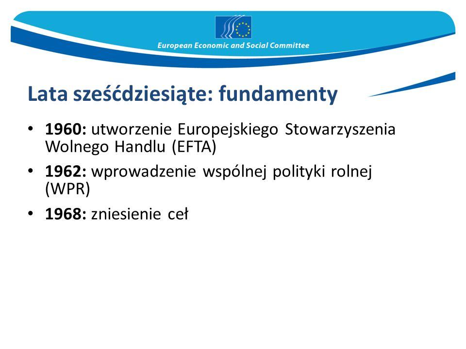 Lata siedemdziesiąte 1973: pierwsze rozszerzenie – do EWG przystępują Dania, Zjednoczone Królestwo i Irlandia  Europa liczy 9 państw członkowskich 1979: pierwsze powszechne wybory bezpośrednie do Parlamentu Europejskiego