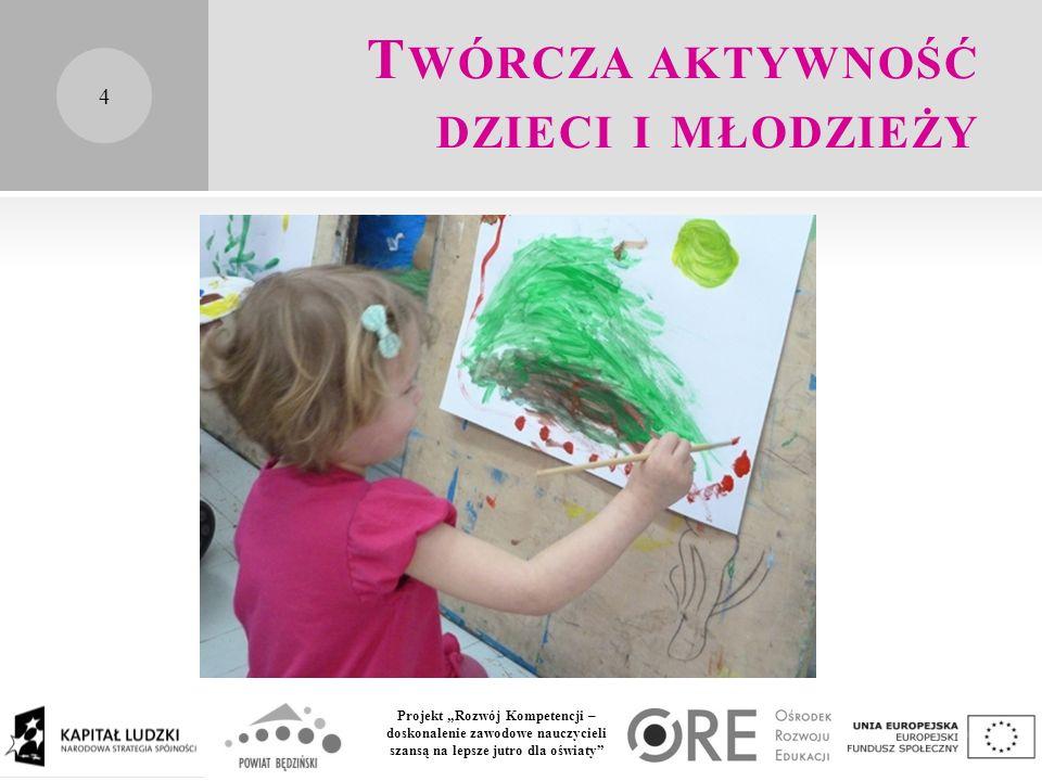 """Projekt """"Rozwój Kompetencji – doskonalenie zawodowe nauczycieli szansą na lepsze jutro dla oświaty T WÓRCZA AKTYWNOŚĆ DZIECI I MŁODZIEŻY 4"""