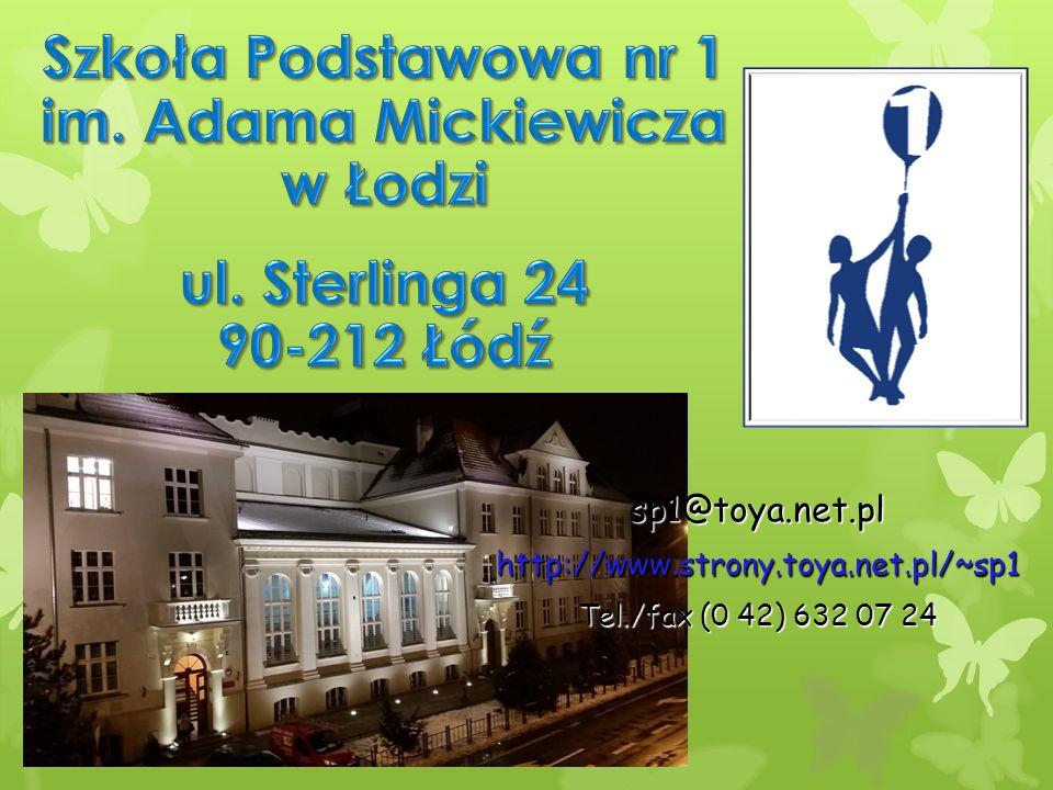 sp1@toya.net.plhttp://www.strony.toya.net.pl/~sp1 Tel./fax (0 42) 632 07 24