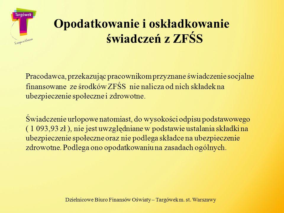Opodatkowanie i oskładkowanie świadczeń z ZFŚS Pracodawca, przekazując pracownikom przyznane świadczenie socjalne finansowane ze środków ZFŚS nie nali