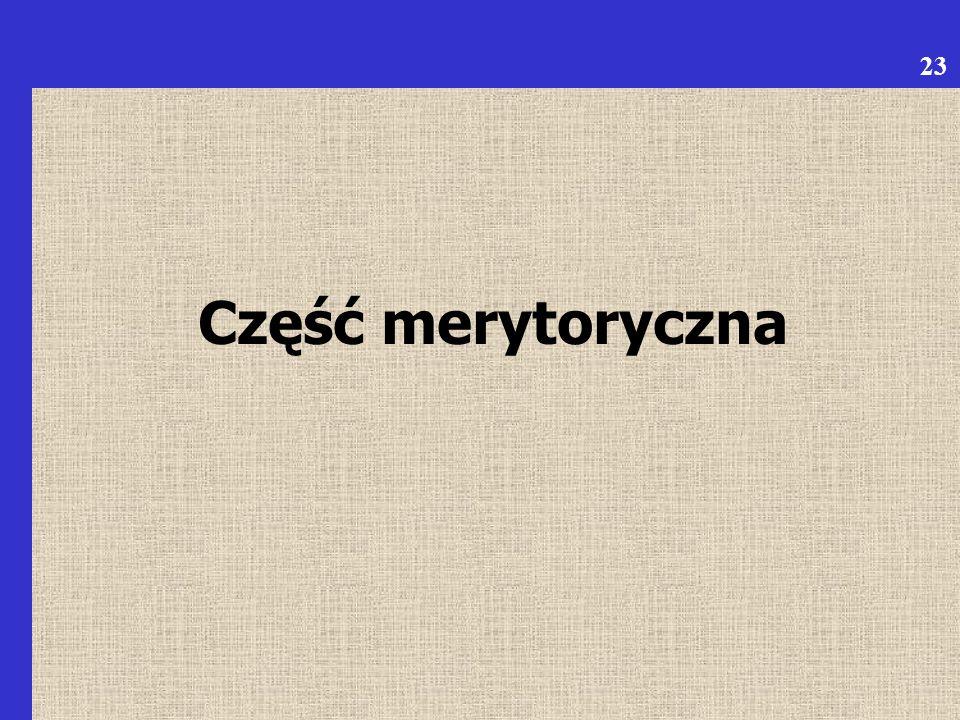 Część merytoryczna 23