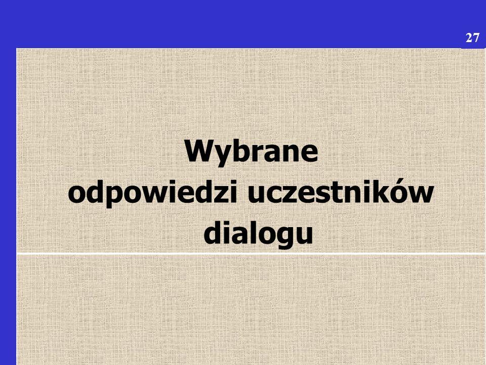 6 Wybrane odpowiedzi uczestników dialogu 27