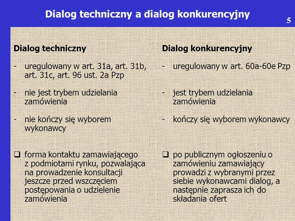 Dialog techniczny -uregulowany w art. 31a, art. 31b, art.