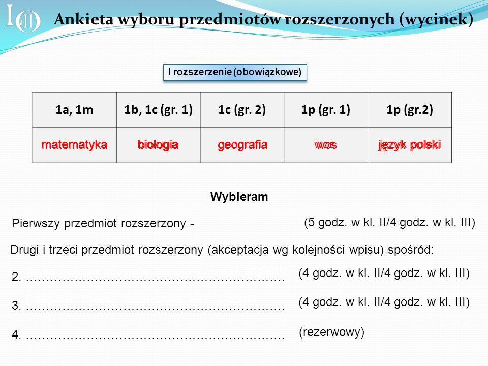 1a, 1m1b, 1c (gr. 1)1c (gr. 2)1p (gr.