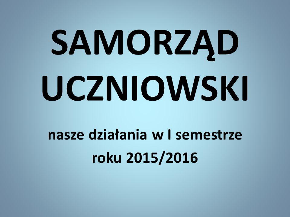 Stale podtrzymujemy akcje Kolorowych Piątków i Szczęśliwego Numerka, które cieszą się wielką popularnością - odpowiedzialni w I semestrze to: Jacek Kołodziejski i Maciek Nidkowski z kl.