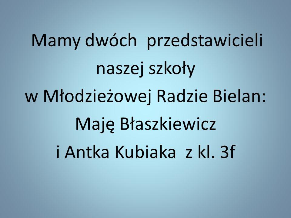 Mamy dwóch przedstawicieli naszej szkoły w Młodzieżowej Radzie Bielan: Maję Błaszkiewicz i Antka Kubiaka z kl. 3f