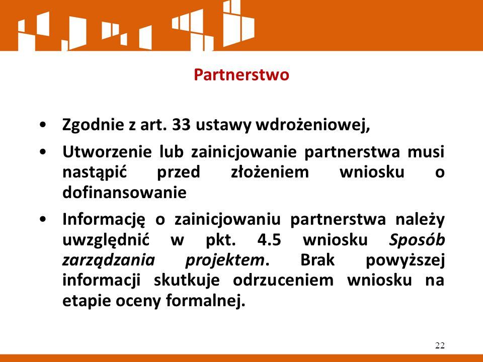 Partnerstwo Zgodnie z art.