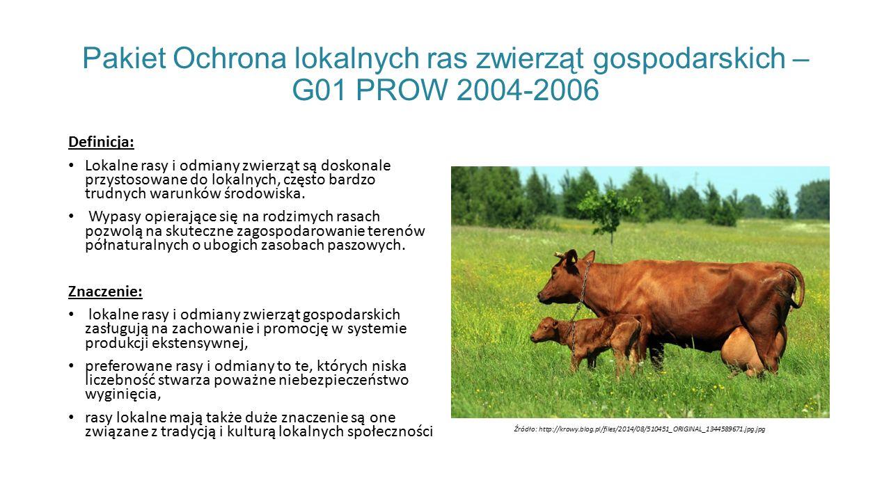 Pakiet Ochrona lokalnych ras zwierząt gospodarskich – G01 PROW 2004-2006 Definicja: Lokalne rasy i odmiany zwierząt są doskonale przystosowane do lokalnych, często bardzo trudnych warunków środowiska.