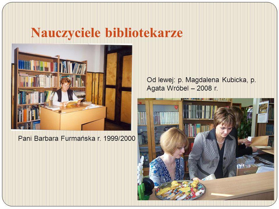 Nauczyciele bibliotekarze Pani Barbara Furmańska r.