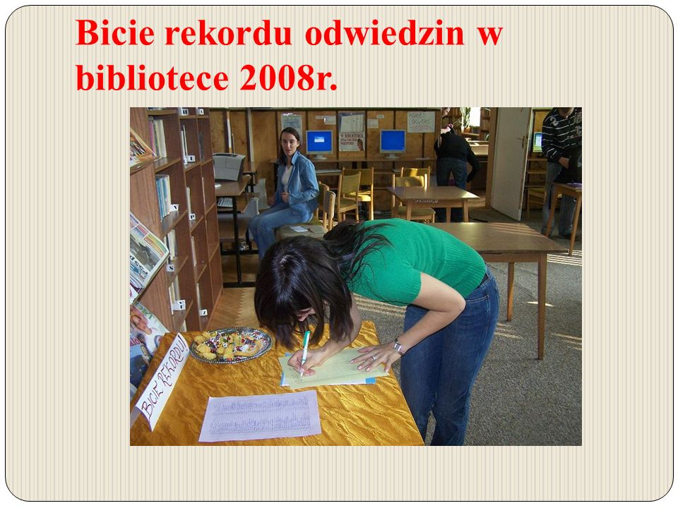 Bicie rekordu odwiedzin w bibliotece 2008r.
