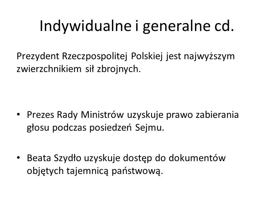 Indywidualne i generalne cd.