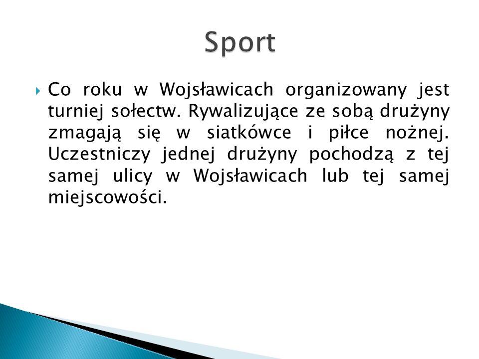  Co roku w Wojsławicach organizowany jest turniej sołectw.