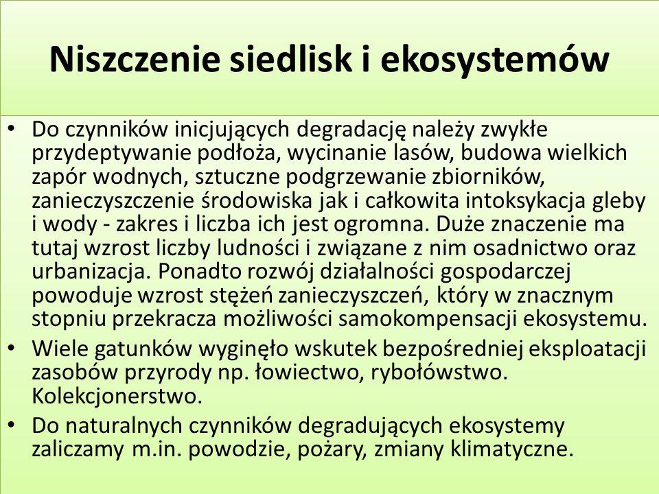 W Polsce stosuje się następujące formy ochrony obszarowej Park narodowy; Rezerwat przyrody; Park krajobrazowy Obszar chronionego krajobrazu Obszar sieci Natura 2000.