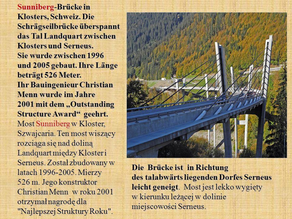 Sunniberg-Brücke in Klosters, Schweiz.