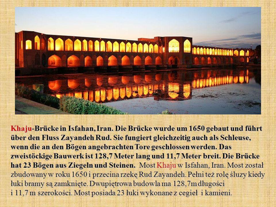 Khaju-Brücke in Isfahan, Iran.