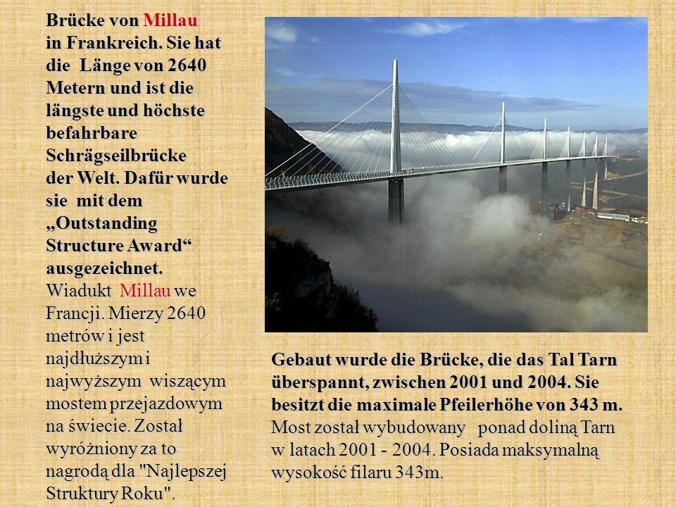 Brücke von Millau in Frankreich.