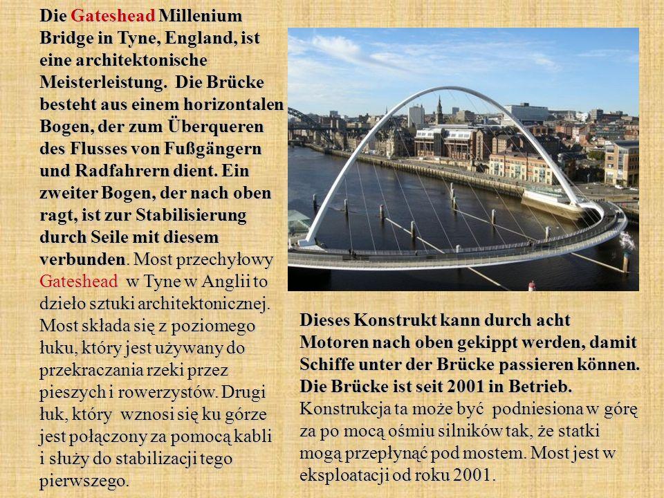 Die Gateshead Millenium Bridge in Tyne, England, ist eine architektonische Meisterleistung.
