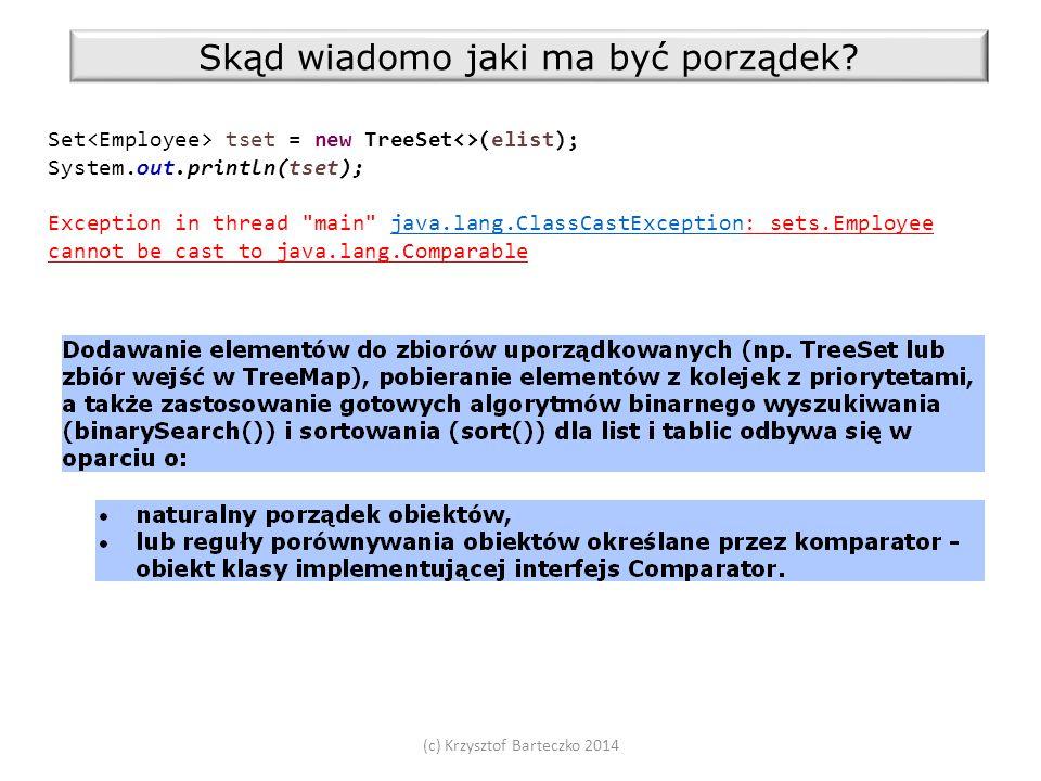 (c) Krzysztof Barteczko 2014 Skąd wiadomo jaki ma być porządek.