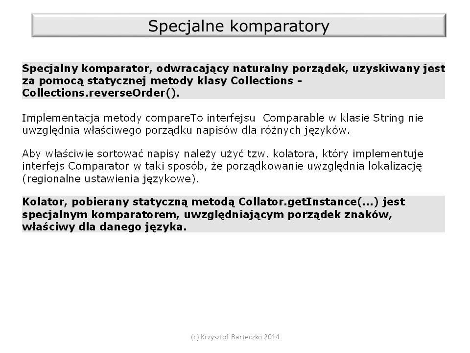 (c) Krzysztof Barteczko 2014 Specjalne komparatory