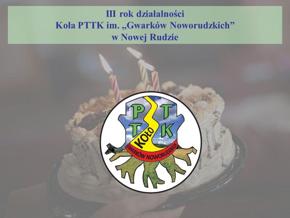 """III rok działalności Koła PTTK im. """"Gwarków Noworudzkich w Nowej Rudzie"""