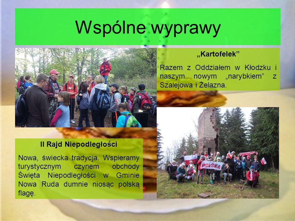 """Wspólne wyprawy """"Kartofelek Razem z Oddziałem w Kłodzku i naszym nowym """"narybkiem z Szalejowa i Żelazna."""