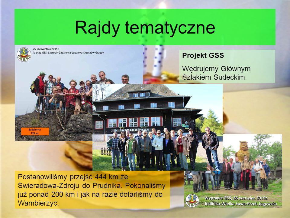 Rajdy tematyczne Projekt GSS Wędrujemy Głównym Szlakiem Sudeckim Postanowiliśmy przejść 444 km ze Świeradowa-Zdroju do Prudnika.