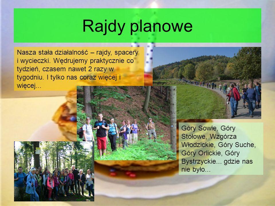Rajdy planowe Góry Sowie, Góry Stołowe, Wzgórza Włodzickie, Góry Suche, Góry Orlickie, Góry Bystrzyckie...
