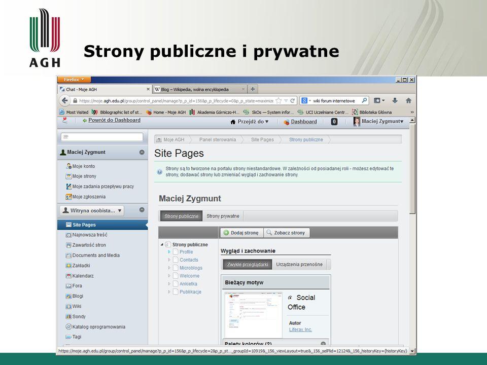 Strony publiczne i prywatne