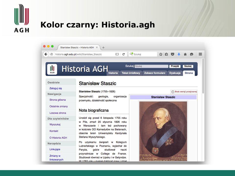 Kolor czarny: Historia.agh