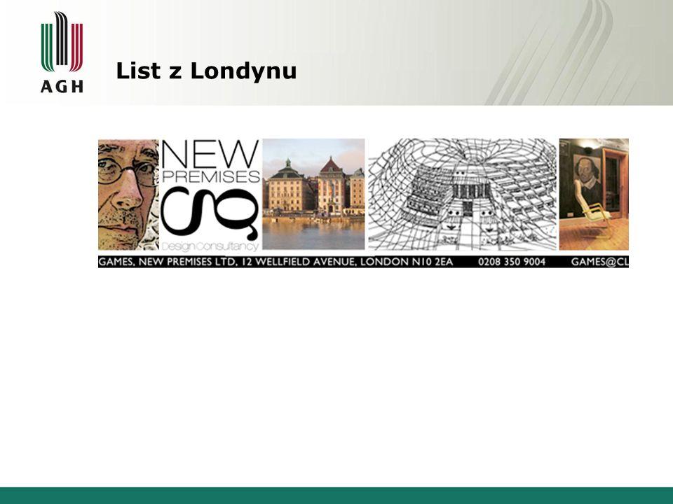 List z Londynu