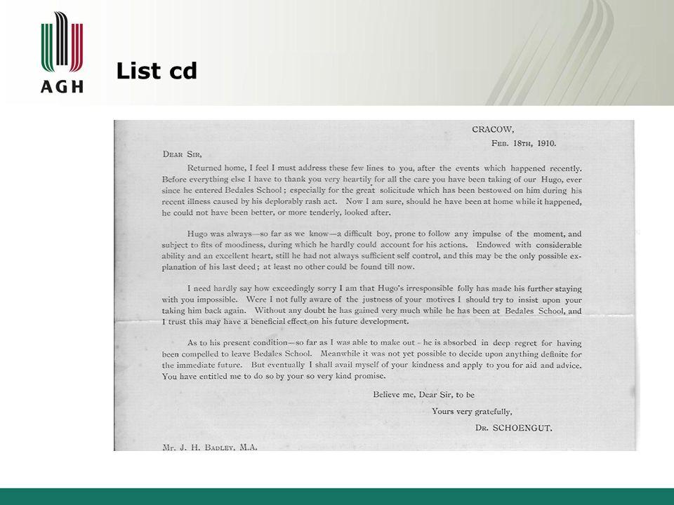 List cd