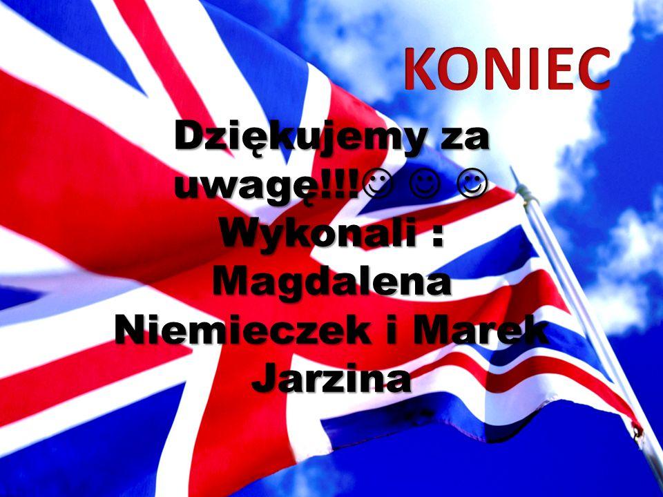 Dziękujemy za uwagę!!! Dziękujemy za uwagę!!! Wykonali : Magdalena Niemieczek i Marek Jarzina