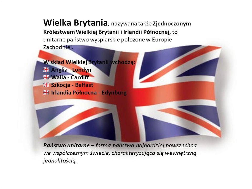 Wielka Brytania, nazywana także Zjednoczonym Królestwem Wielkiej Brytanii i Irlandii Północnej, to unitarne państwo wyspiarskie położone w Europie Zac