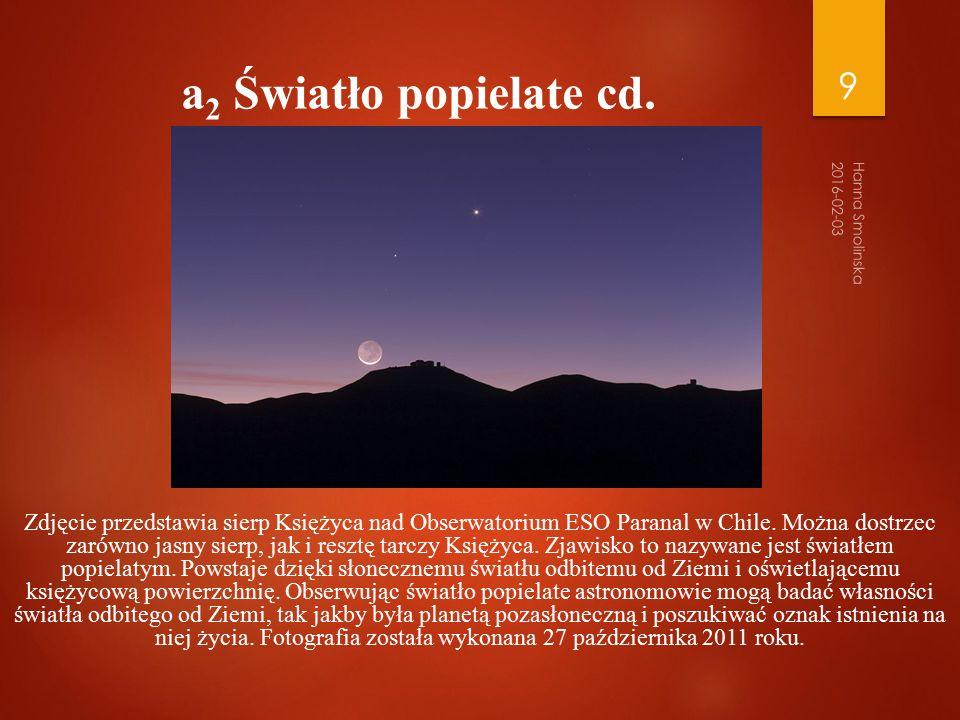 Swiatlo popielate cd.Zdjęcie przedstawia sierp Księżyca nad Obserwatorium ESO Paranal w Chile.
