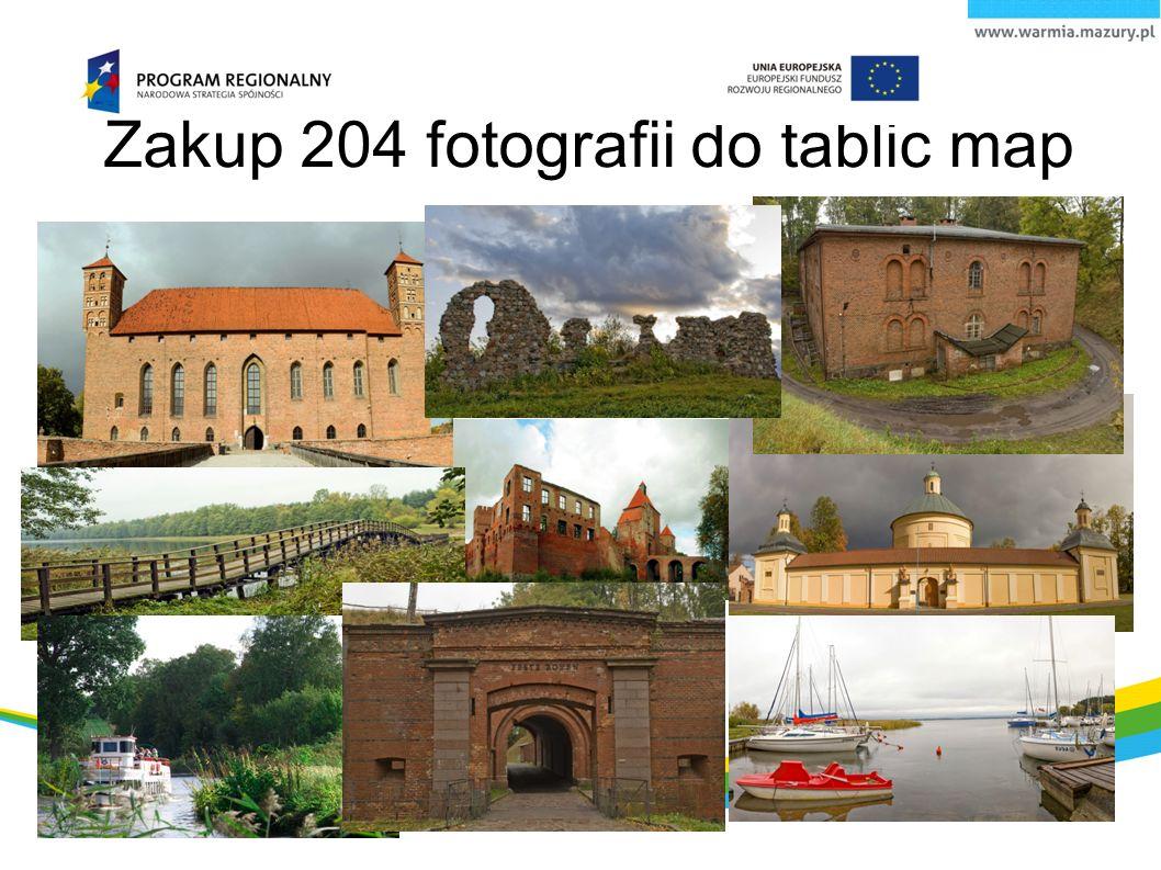 Zakup 204 fotografii do tablic map