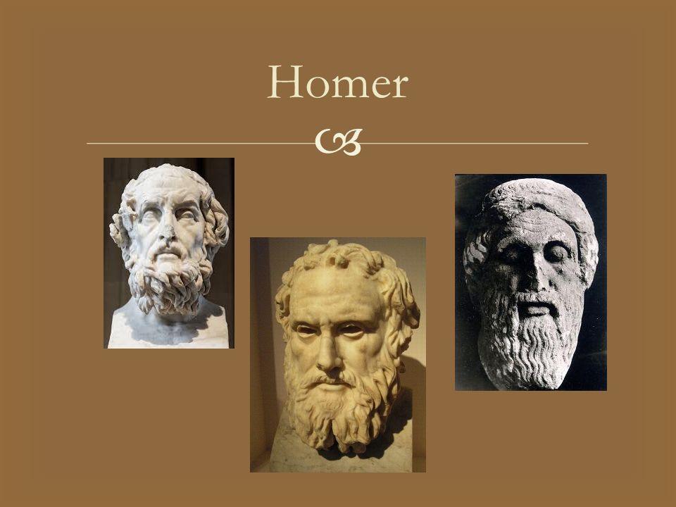   Z postacią Homera wiąże się tzw.kwestia homerycka.