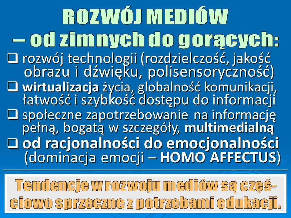  ZIMNE (komunikat niepełny, wyma- gają zaangażowania intelektualnego i uzupełnienia komunikatu przez od- biorcę, silnie oddziałują na wyobraźnię)  G