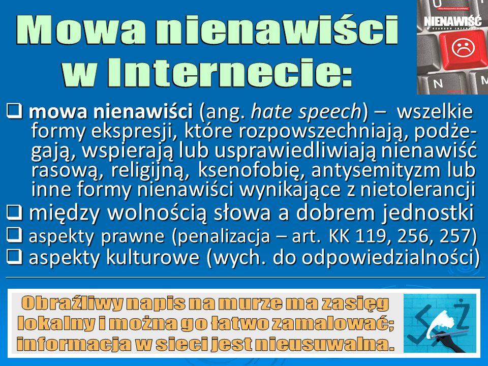  brak szacunku w debatach internetowych (trollowanie – łamanie zasad netykiety)  rozmowy z pozycji Alfy i Omegi (ignoranci udają fachowców)  internauta – widz rzymskich pojedynków